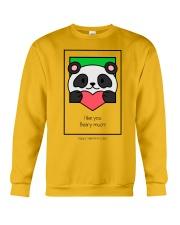 Cute bear giving his heart Crewneck Sweatshirt thumbnail