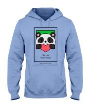 Cute bear giving his heart Hooded Sweatshirt thumbnail