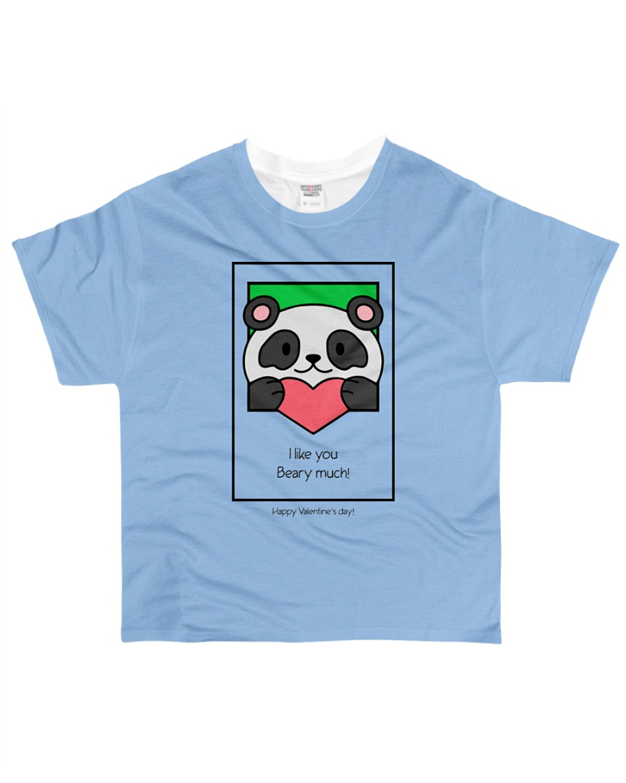 Cute bear giving his heart All-over T-Shirt