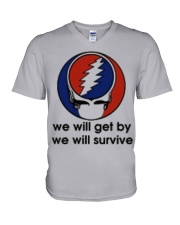 We Will Get By We Will Survive V-Neck T-Shirt thumbnail