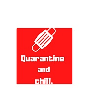 Quarantine and Chill  Square Magnet tile
