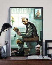 Jason in Bathroom 11x17 Poster lifestyle-poster-2