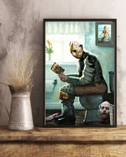 Jason in Bathroom 11x17 Poster lifestyle-poster-3