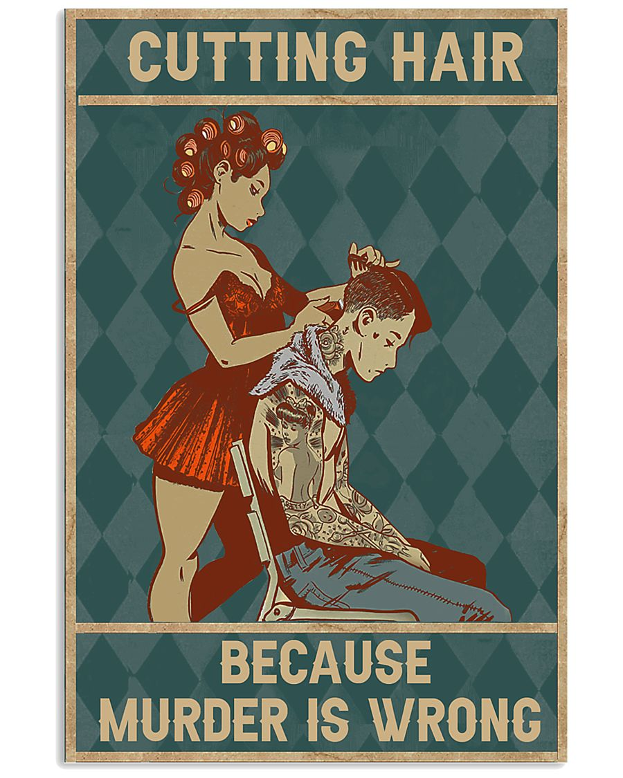 Cutting Hair 11x17 Poster