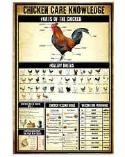 Chicken Care Knowledge 11x17 Poster front