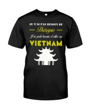 JE N AI PAS BESOIN DE THERAPIE Classic T-Shirt thumbnail