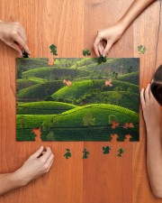 TEA HILL IN THE MORNING 250 Piece Puzzle (horizontal) aos-jigsaw-puzzle-250-pieces-horizontal-lifestyle-front-07