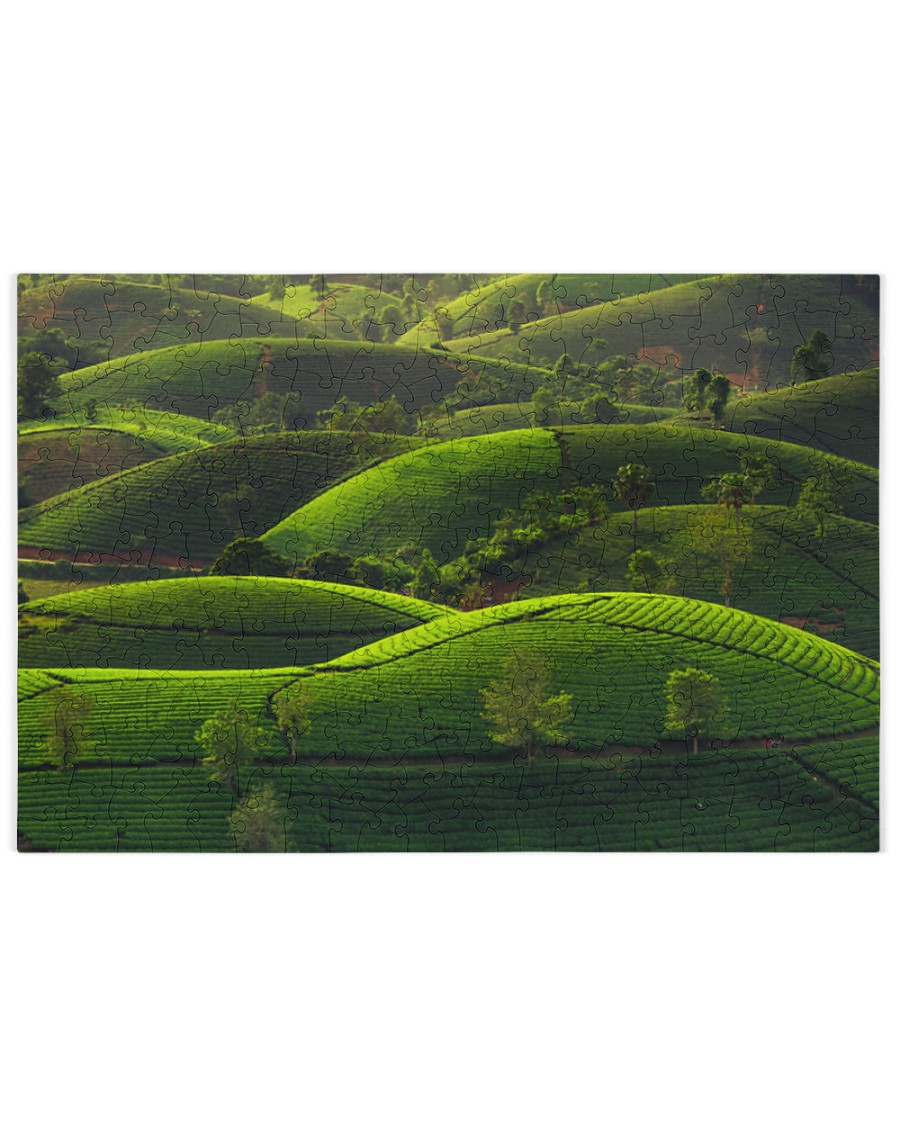 TEA HILL IN THE MORNING 250 Piece Puzzle (horizontal)