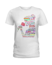 beauty and the beast art Ladies T-Shirt thumbnail