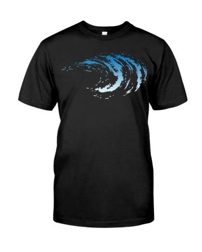 Wave Surfing Beach Hoodie