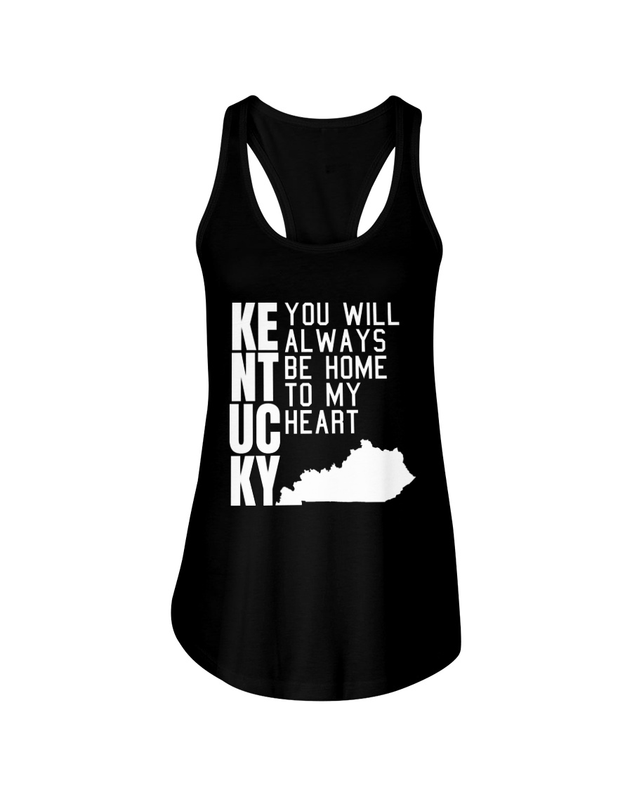 Kentucky Will Always Be Home To My Heart Ladies Flowy Tank
