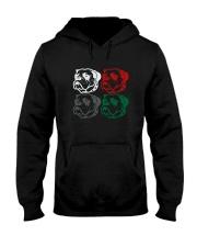 Artistic Bulldog Design Hooded Sweatshirt thumbnail
