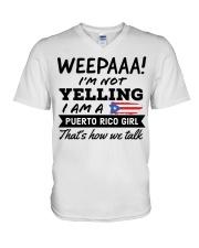 Puerto Rico Girl - Printed in the USA V-Neck T-Shirt thumbnail