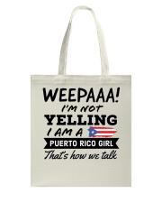 Puerto Rico Girl - Printed in the USA Tote Bag thumbnail