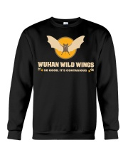 Wuhan wild wings so good it's contagious shirt Crewneck Sweatshirt thumbnail