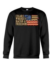 CIGARS-WHISKEY-BACON-FREEDOM Crewneck Sweatshirt thumbnail