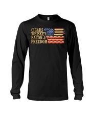 CIGARS-WHISKEY-BACON-FREEDOM Long Sleeve Tee thumbnail