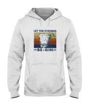 Wine Let The Evenning Be Gin Hooded Sweatshirt thumbnail