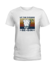 Wine Let The Evenning Be Gin Ladies T-Shirt thumbnail
