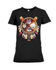 MORE WOLVES DREAMCATCHER  Premium Fit Ladies Tee thumbnail
