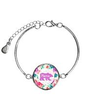 Mama bear floral Metallic Circle Bracelet thumbnail