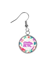 Mama bear floral Circle Earrings front