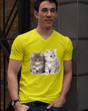 asdfasdf V-Neck T-Shirt lifestyle-mens-vneck-front-2