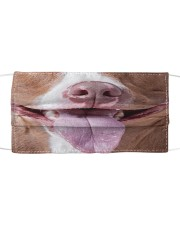 Funny cute dog smiling cloth face mask Cloth face mask front