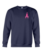Breast Cancer Horse Fight 2 Sides Crewneck Sweatshirt thumbnail