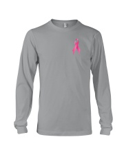Breast Cancer Horse Fight 2 Sides Long Sleeve Tee thumbnail