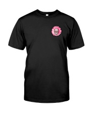 Breast Cancer Sugar Skull Classic T-Shirt front