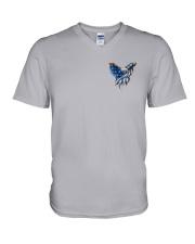Diabetes - Fight Like An Eagle V-Neck T-Shirt thumbnail