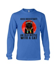 Cat And Hippie - Never Underestimate An Old Hippie Long Sleeve Tee thumbnail