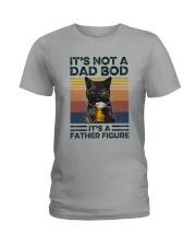 Black Cat Dad Bod Ladies T-Shirt tile