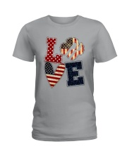 Girl Scout - Love America Ladies T-Shirt tile