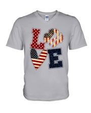 Girl Scout - Love America V-Neck T-Shirt tile