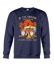 Camping - If Im Drunk Crewneck Sweatshirt thumbnail