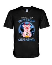 Pig - Buckle Up Buttercup V-Neck T-Shirt tile