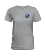 Suicide - Never Give Up 2 Sides Ladies T-Shirt tile