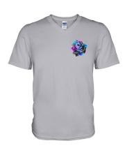 Suicide - Never Give Up 2 Sides V-Neck T-Shirt tile