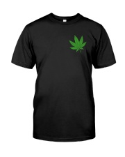 Flag Cannabis 2 Sides Classic T-Shirt front