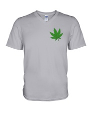 Flag Cannabis 2 Sides V-Neck T-Shirt tile
