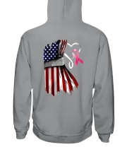 Breast Cancer Heartbeat Hooded Sweatshirt tile