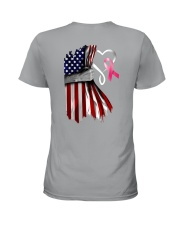 Breast Cancer Heartbeat Ladies T-Shirt tile