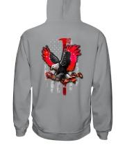Red Eagle Rose 2 Sides Hooded Sweatshirt tile