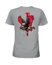 Red Eagle Rose 2 Sides Ladies T-Shirt tile