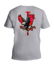 Red Eagle Rose 2 Sides V-Neck T-Shirt tile