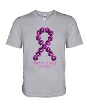 Breast Cancer Survive Rose V-Neck T-Shirt thumbnail