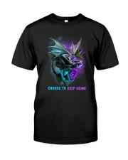 Suicide Prevention - Choose To Keep Going Classic T-Shirt front