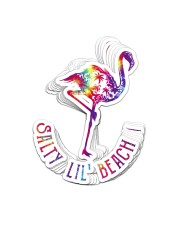 Flamingo Salty Lil Beach St Sticker - 10 pack (Vertical) front
